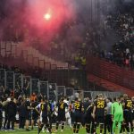 Marseille clash with Galatasaray STOPPED as fans clash in stands
