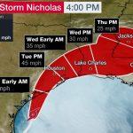 Tropical Storm Nicholas in the Western Gulf a Major Rainfall Flood Threat For Texas, Louisiana