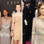 """Angelina Jolie Revealed Her Children """"Upcycled Her Old Stuff"""" After Her Daughter Wore Her 2014 Oscars Dress To The """"Eternals"""" Premiere"""